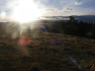 Sun rising over Green Mountain in Wyoming on Bureau of Land Management property