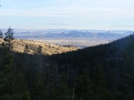 Looking from Green Mountain to the Granite Mountains below, the Rattlesnake Hills on the horizon