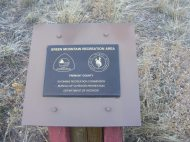 At the Green Mountain Recreation Area, a dedicated plaque