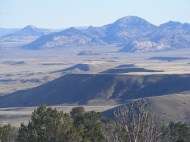 Looking at the Granite Mountains from the northern face of Green Mountain, the Sweetwater River intervenes