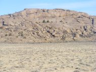 A granite face in the Granite Mountains, near the Agate Flat Road, a mile or so south of the Sweetwater River