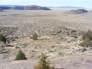 Looking out over the great sagebrush steppe in the Granite Mountains