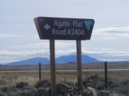 Signage for Agate Flats Road, Bureau of Land Management 2404