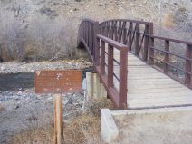 The bridge over the Encampment River