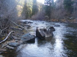 Boulders in the Encampment River