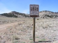 Bureau of Land Management Road 860, closed for the season
