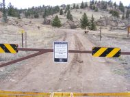 Spring closure to prevent road erosion and disturbance to wildlife