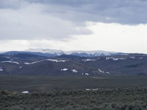 Calf Creek Plateau, part of the highlands often referred to as the Powderhorn Country, above the rolling sagebrush steppe