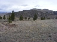 The dry bed of Big Dry Gulch