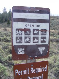 Beginning my hike on Bureau of Land Management Road 990, near U.S. 285 and San Luis Creek