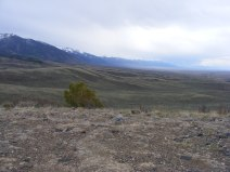 Looking south from Road 990 along the western flank of the Sangre de Cristo Mountains
