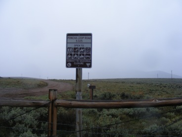 Returning from my hike, Bureau of Land Management Road 5325, a heavy rain precipitated from yon cloud