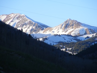 Some of the high peaks at the head of Cement Creek.