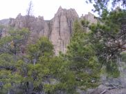 The Dillon Pinnacles looming over the trail