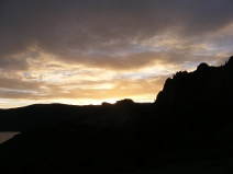 Sunset over Dillon Pinnacles