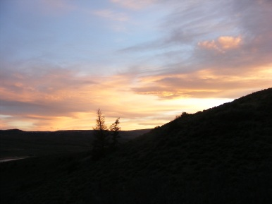 Dusk near Dillon Pinnacles