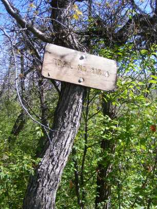 Signage for the Drift Creek Trail No. 815, near a boundary with private property