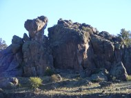 Some oddly eroded boulders on East Pass Creek