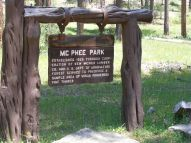 Signage for McPhee Park