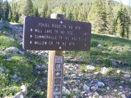 Signage at the Gold Creek Trailhead