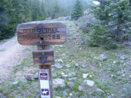 Trailhead sign for the Gold Creek Trail No. 427