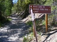 Signage for the Middle Fork Road, also known as San Isabel National Forest Road 230