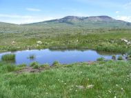 A small pond south of Red Mountain