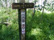 Signage for Roaring Judy Trail No. 552 at the end of Gunnison National Forest Road 813.2A