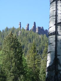 Towers of rock above Mill Creek