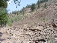 Talus on the Williams Creek Trail