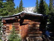 The old cabin near Lamphier Lake