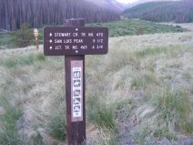 Signage for the Stewart Creek Trail No. 470