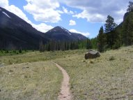 Part of the Colorado and Continental Divide Trails, looking at a section of Gunnison National Forest Trail No. 465 on Cochetopa Creek