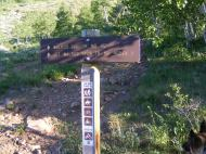 Signage for the lower end of the Walrod Gulch Trail No. 412