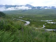 Low clouds above the East River, from the eastern slope of Crested Butte