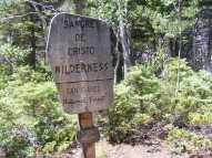 Signage for the Sangre de Cristo Wilderness on the San Isabel National Forest, near Hamilton Baldy