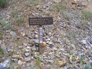 Signage for the Independence Gulch Trail No. 234, adjacent to the Lake Fork of the Gunnison River and Colorado 149