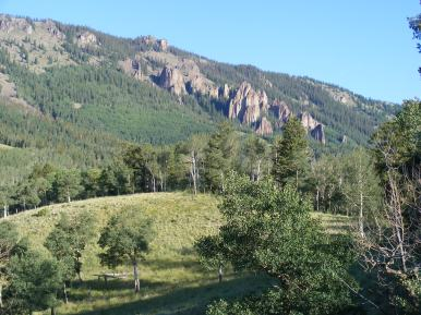 Outcroppings on Bill Hare Gulch