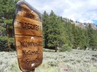 Uncompahgre Wilderness boundary on the Independence Gulch Trail No. 234