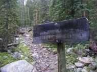 The Fossil Ridge Trail No. 478 leading up from the junction with the Mill Creek Trail No. 532, within Gunnison National Forest