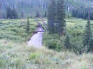 West Brush Creek flowing past aspen, willow and conifer