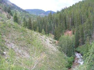 Looking upstream on Brush Creek above West Brush Creek
