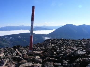 The summit of Carbon Peak