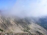 One last cloud rising over Carbon Peak