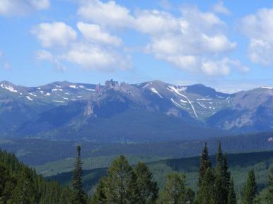 The Castles under West Elk Peak