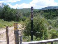 Gunnison National Forest Road 762, along Buckhorn Gulch