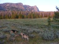 Draco and Leah at sunset in the Roaring Fork Basin