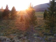 Sunset over the Roaring Fork Basin
