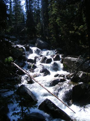 Tumbling water soon added to the Roaring Fork