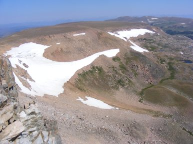Looking down into Jakey's Fork, in the Shoshone National Forest and Fitzpatrick Wilderness